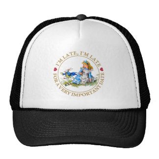 The White Rabbit Rushes By Alice In Wonderland Trucker Hat