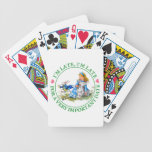 The White Rabbit Rushes By Alice In Wonderland Bicycle Playing Cards