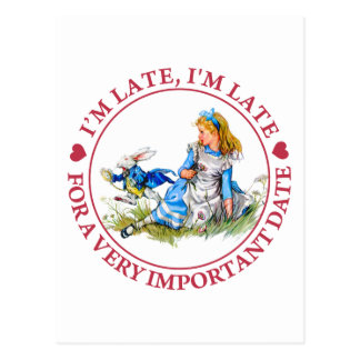 The White Rabbit Rushes By Alice in Wonderland Postcard