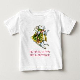 The White Rabbit slips down the rabbit hole. T Shirts