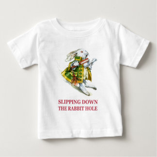 The White Rabbit slips down the rabbit hole. Shirts