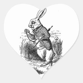 The White Rabbit Heart Stickers
