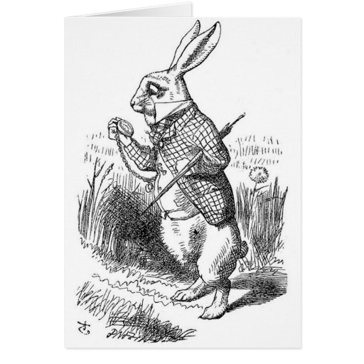 The White Rabbit with Watch Card