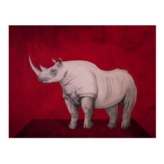 The White Rhino Postcard