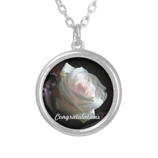 The White Rose - Congratulations Silver Plated Necklace