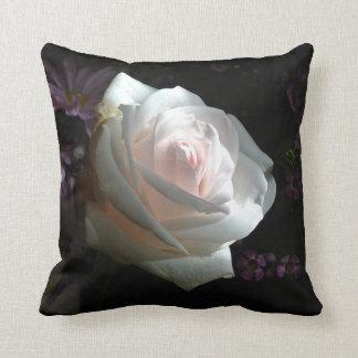 The White Rose - Throw Pillow