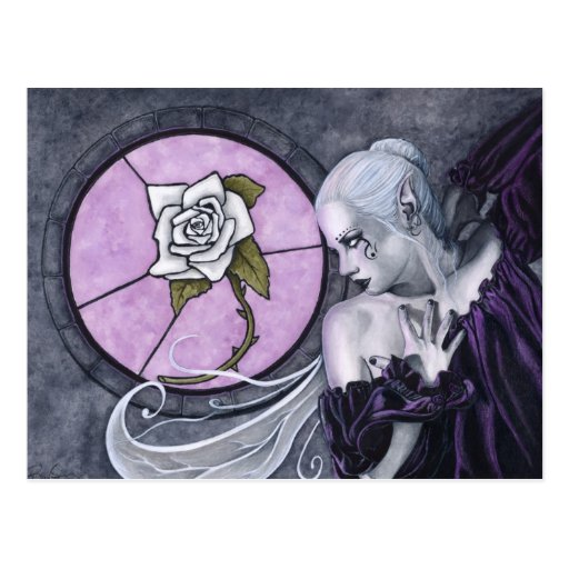 The White Rose postcard