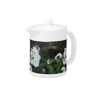 The White Roses Teapot by Julia Hanna