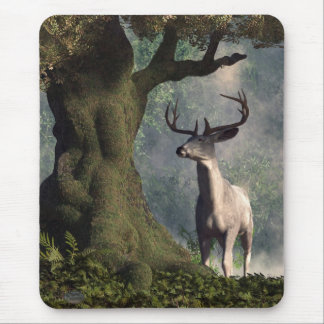 The White Stag Mouse Pad