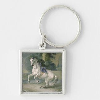 The White Stallion 'Leal' en levade, 1721 Keychain