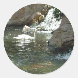 The White Swan Classic Round Sticker