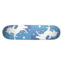 """ The White Unicorns "" Skateboard Deck"