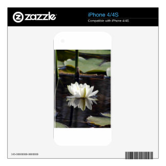The white water lilly iPhone 4S skin