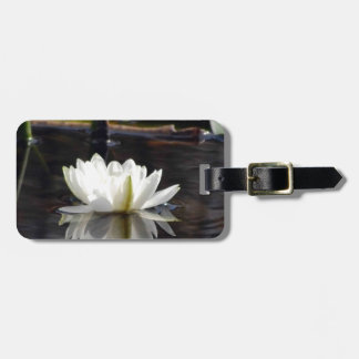 The white water lilly tags for bags