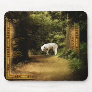 The White Wolf Dares You Mouse Pad