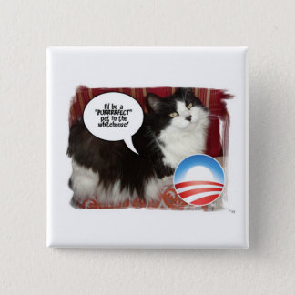 The Whitehouse Pet Kitty Cat Button