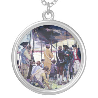The Whites of Their Eyes by Ken Riley Silver Plated Necklace
