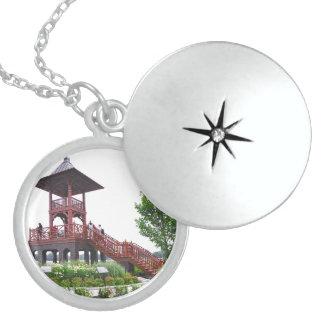 The Whitney Tower Round Locket Necklace