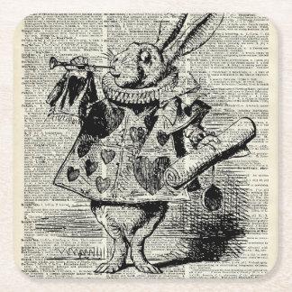 The Whitte rabbit Square Paper Coaster