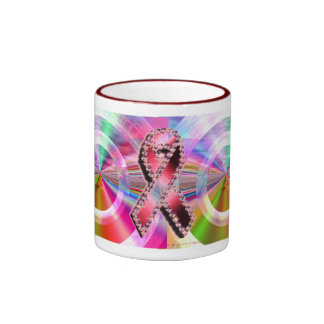 The whole color spectrum wants to cure  all Cancer Ringer Mug
