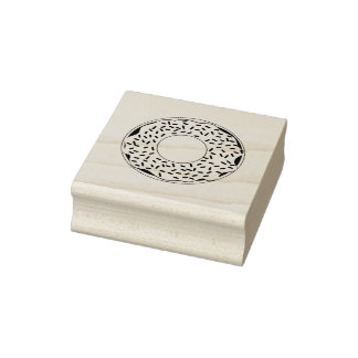 The Whole Donut Rubber Stamp