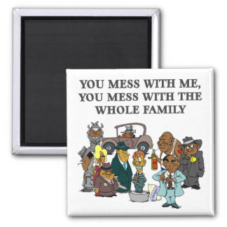 The Whole Family 2 Inch Square Magnet