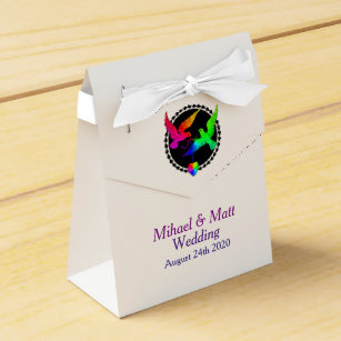The Whole Of Rainbow Wedding Favor Box