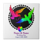 The Whole of the Rainbow Gay Wedding Gift Tile
