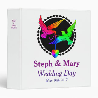 The Whole of the Rainbow Lesbian Wedding Album Vinyl Binder