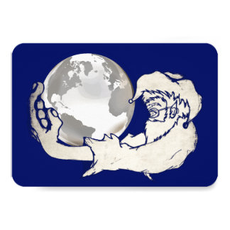 the whole world in a monkeys hand card