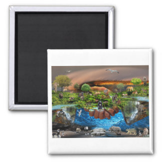 The Whole World In Our Hands 2 Inch Square Magnet