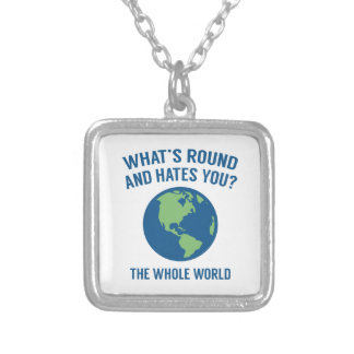The Whole World Silver Plated Necklace