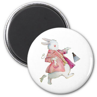 THE WHTE RABBIT RUNS PAST ALICE 2 INCH ROUND MAGNET