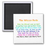 The Wiccan Rede 2 Inch Square Magnet