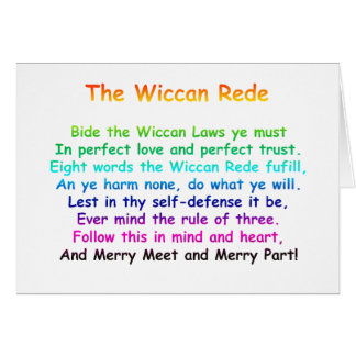 The Wiccan Rede Greeting Card