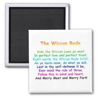 The Wiccan Rede Fridge Magnets