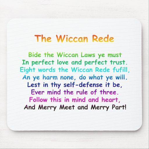 The Wiccan Rede Mousemats