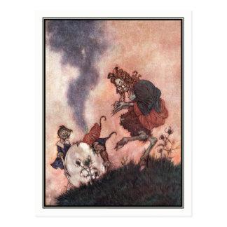 The Wicked Hobgoblin by Edmund Dulac Postcard