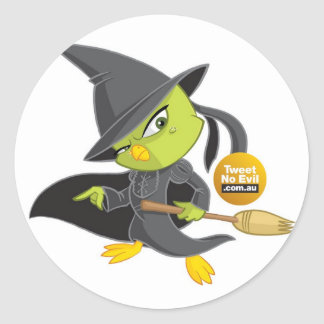 The Wicked Witch of the Tweet Classic Round Sticker