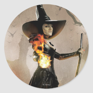 The Wicked Witch of the West 6 Round Stickers