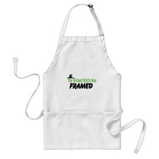 The Wicked Witch Was Framed Adult Apron