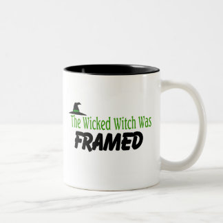 The Wicked Witch Was Framed Two-Tone Coffee Mug