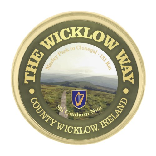 The Wicklow Way Gold Finish Lapel Pin