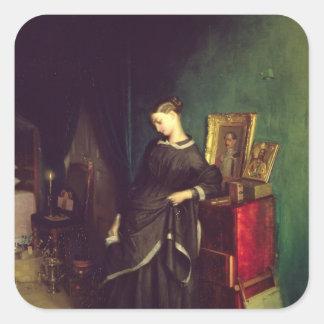 The Widow, c.1850 Square Sticker