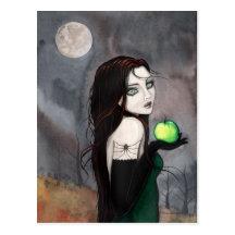 The Widow Gothic WItch Fantasy Art Postcard