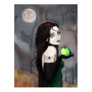 The Widow Gothic WItch Fantasy Art Postcard