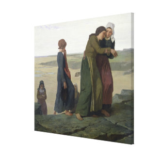 The Widow or The Fisherman's Family Canvas Print