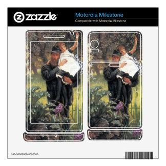 The widower by James Tissot Motorola Milestone Decal