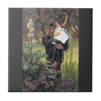 The widower by James Tissot Ceramic Tiles
