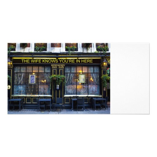 The wife Knows Pub Picture Card
